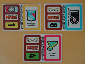 1978-79 Topps Hockey Stickers NY Rangers, Philadelphia Flyers, St. Louis Blues