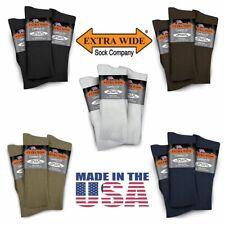 Extra Wide Dress Stretch Lycra Socks Regular King 3 PACK Made in USA BIG & TALL