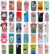 Case Cover For iPhone 4 5 6S 7 8 Plus X XS XR Cute 3D Cartoon Silicone Kids Skin