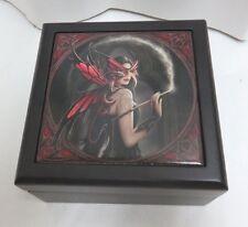 "Anne Stokes Fantasy Art Tile Wooden Box /""Magic Window/"" NWT"