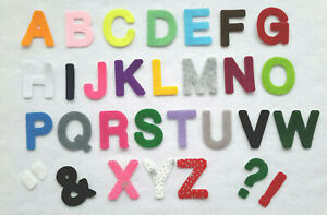 "IRON ON Felt Letters 1.5"" (4cm) - Capitals only - Medium Size"