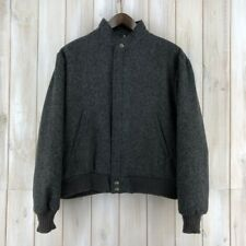 Vintage Woolrich Charcoal Grey Bomber Jacket MADE IN USA Harrington L