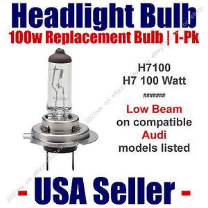 Headlight Bulb Low Beam 100 Watt Upgrade 1pk - Fits Audi Models Listed - H7 100
