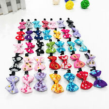10pcs Infant Baby Girl Grosgrain Ribbon Hair Bows With Clips Toddler Accessory