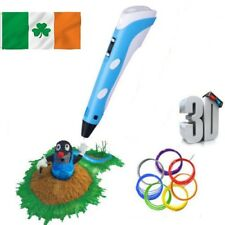3D Printing Pen Stereoscopic Hot Drawing Arts Crafts + 3 Free ABS Filaments
