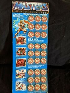 MASTERS OF THE UNIVERSE THUNDER PUNCH AMMO 1983 NRFB VINTAGE