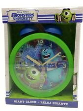 KIDS DISNEY MONSTERS UNIVERSITY GREEN GIANT BEDSIDE TABLE BELL BEDROOM CLOCK