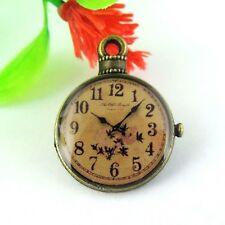19PCS Antiqued Bronze Alloy Round Clock Watch Pendant Charms 25*19*3mm 38973