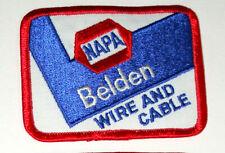 NAPA Auto Parts Belden Racing Spark Plug Wire & Cable New NOS Cloth Patch