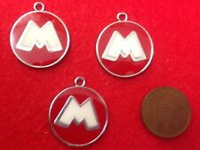 Set of 3 x MICKEY MINNIE LOGOS (Character) Metal Enamel Charm Pendants  - (R2)