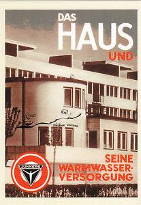 Karte: Reklameblatt Junkers & Co., Junkers-Thermotechnik im Haus, 1927
