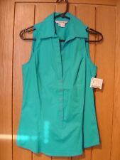 Zara Basic Turquoise Blue Blouse Size S NEW (tags) (Ref Z) Excellent Condition