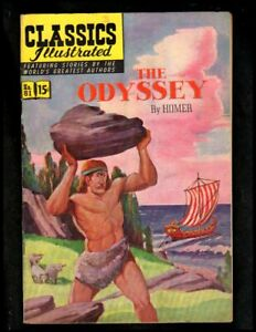 CLASSICS ILLUSTRATED #81 FINE- (O) HRN82 (THE ODYSSEY)