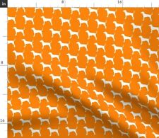 Dog Orange Hunting Coonhound Tennessee Ut Dog On Spoonflower Fabric by the Yard