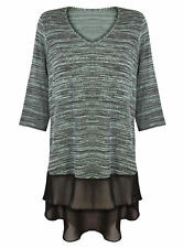 Textured V Neck Tops & Shirts Plus Size for Women