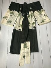 More details for beautiful antique silk child's kimono - hand-painted & embroidered