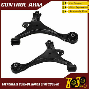Front RH & LH Lower Control Arm for 2001-2005 Honda Civic 2001-2006 Acura EL RSx
