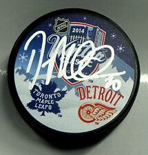 DREW MILLER Signed DETROIT RED WINGS WINTER CLASSIC HOCKEY PUCK! 1003385