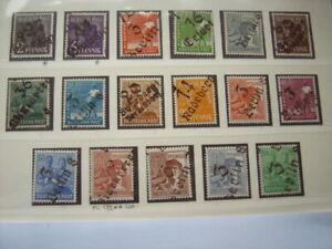 SBZ Michel-Nr.:166-181 postfrisch, Bezirkshandstempel, incl.179 heller Marke 60