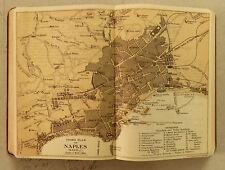 XXI Sec.Originale Mappa Geo-Topografica= Piano di NAPOLI-NAPLES = ITALIA ETNA