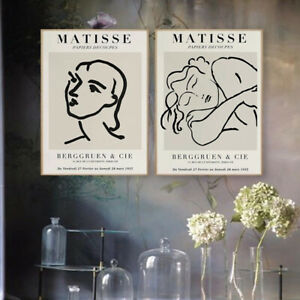 Nordic Literature Decor Painting Abstract Character Naked Line Mural Home Decor