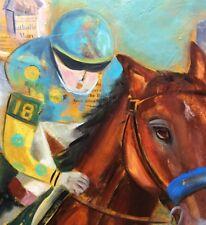 American Pharoah Winning The Kentucky Derby Art Painting Original Oil SFASTUDIO