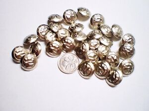 30 BRUSHED SILVER BUTTONS SIZE 15mm