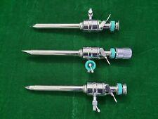 3pc Laparoscopic Trocar Cannula 10mm/100mm Endoscopy Surgical Instruments