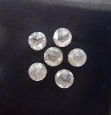 0.77 Ct Natural Loose Diamond Round Rose Cut Grey Color 6 Pcs Lot cabochon lot