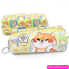6f3558fa1cce Shiba Inu Dog Chubby Cheeks Pencil Bag ~ Dog Lover Stationery School  Supplies