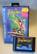 Vintage 90s Video Spiel Game THE PAGEMASTER 1994 Sega Mega Drive System