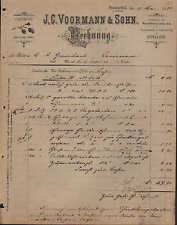 BRECKERFELD (WESTF.), Rechnung 1893, Fabrik von Bauschlössern JC Voormann & Sohn