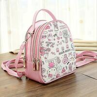 Girls Cute Hello Kitty Backpack Shoulder Crossbody Bag Tote Handbag Waterproof