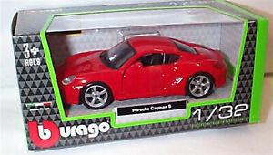 Porsche Cayman S In Red 1:32 Scale Diecast  burago New in Box