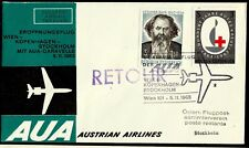 Austria, First Fly Cover, Wien - Stockholm, Year 1963, Austrian Airlines