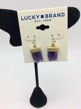 Lucky Brand gold tone rock crystal drop earrings LC622