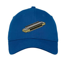 Harmonica Embroidered Soft Low Profile Hat