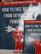 How to Free Yourself from Skyrocketing Power Bills book & CD new paperback