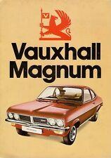 Vauxhall Magnum 1974-75 UK Market Sales Brochure 1800 2300 Saloon Coupe Estate