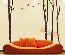 "Wall Decor Decal Sticker large birch tree trunk forest DC0184 84""H x 100""W"