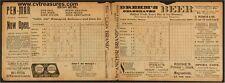 1895 Baltimore Orioles Vs. New York Giants Vintage Baseball Program SUPER RARE!