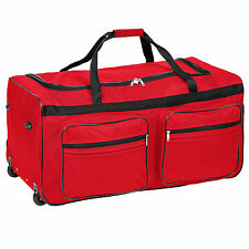 XXL EXTRA LARGE TRAVEL HOLDALL DUFFLE CARGO LUGGAGE CASE BAG SUITCASE 160L red