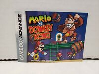 Mario vs Donkey Kong Instruction Booklet Manual Nintendo Gameboy Advance GBA