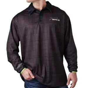 New Arctic Cat Men's Wildcat Long Sleeve Polo ~ Black ~L~ # 5258-554