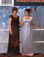 Simplicity Misses' Costume Titanic Empire Dress Pattern 8399 Size 10-14 UNCUT