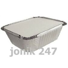 800 Pieces Allumunium Foil Tray Containers 145mmx195mmx50mm with lids 400pairs