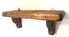 40CM CHUNKY RECLAIMED DISTRESSED PLANK WOOD RUSTIC BROWN WAXED SHELF