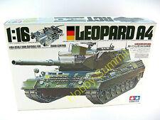 Vintage Tamiya 1/16 R/C German Leopard A4 Main Battle Tank Kit 56002 Rare!