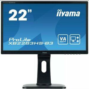 "Brand New Iiyama XB2283HS-B3 22"" ProLite H/A VA HD LED Monitor - Black Iiyama"