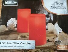 Melinera Led Real Wax Candles Set Of 2